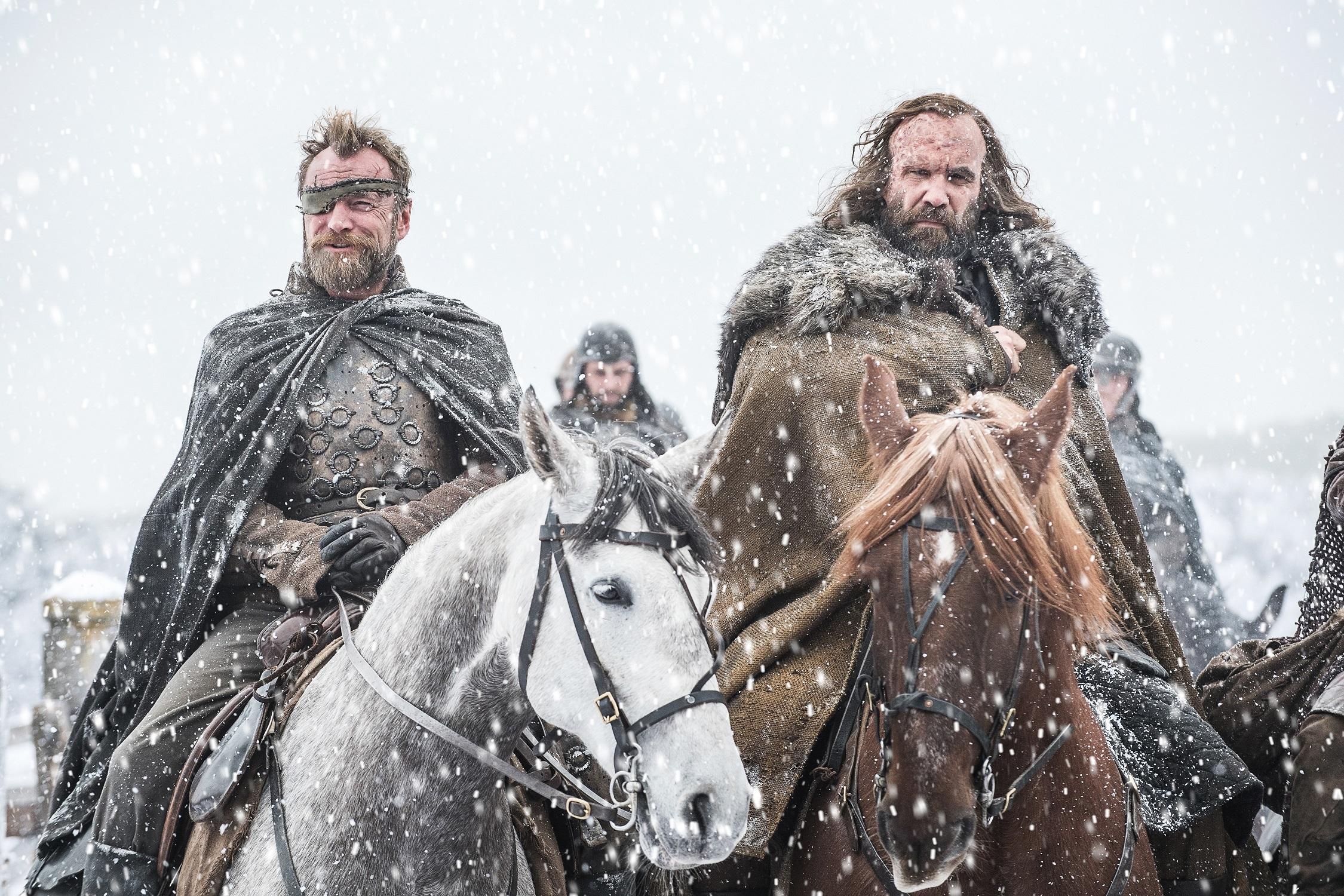 Richard Dormer as Lord Beric, Rory McCann as Sandor. Photo: HBO