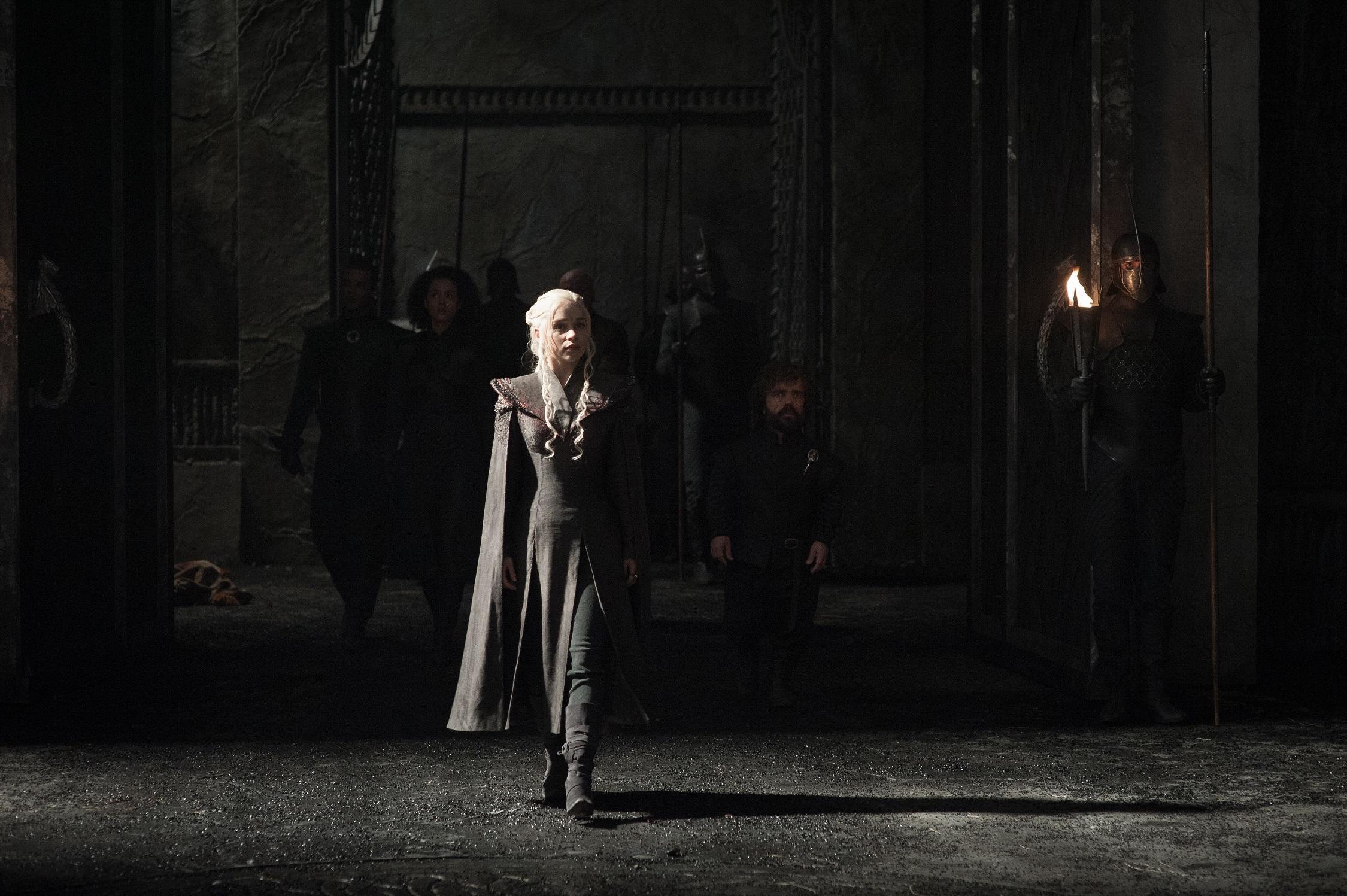 Daenerys, Tyrion, Missandei, Varys, Grey Worm 2
