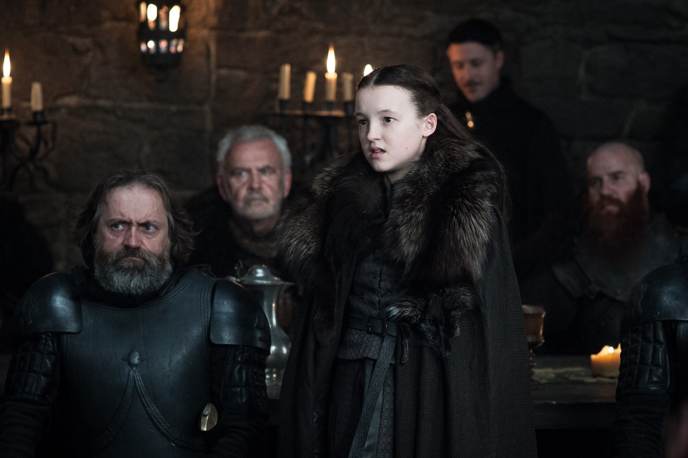 Bella Ramsey as Lyanna Mormont in Winterfell. Photo: HBO