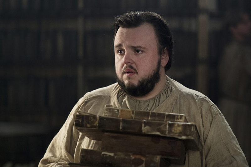 John Bradley as Samwell Tarly, at the Citadel. Photo: HBO