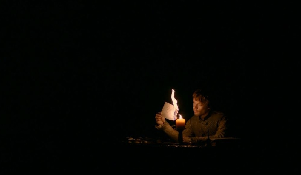 Theon burns the letter