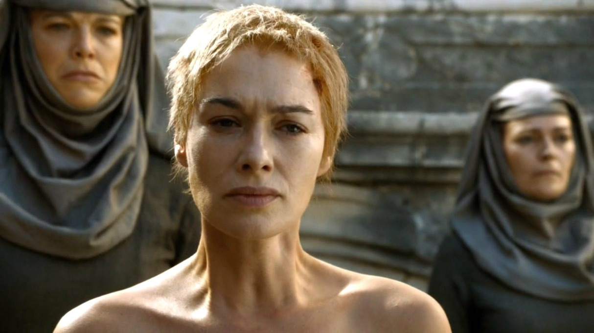 Cersei Lannister Walk of Shame on Game of Thrones