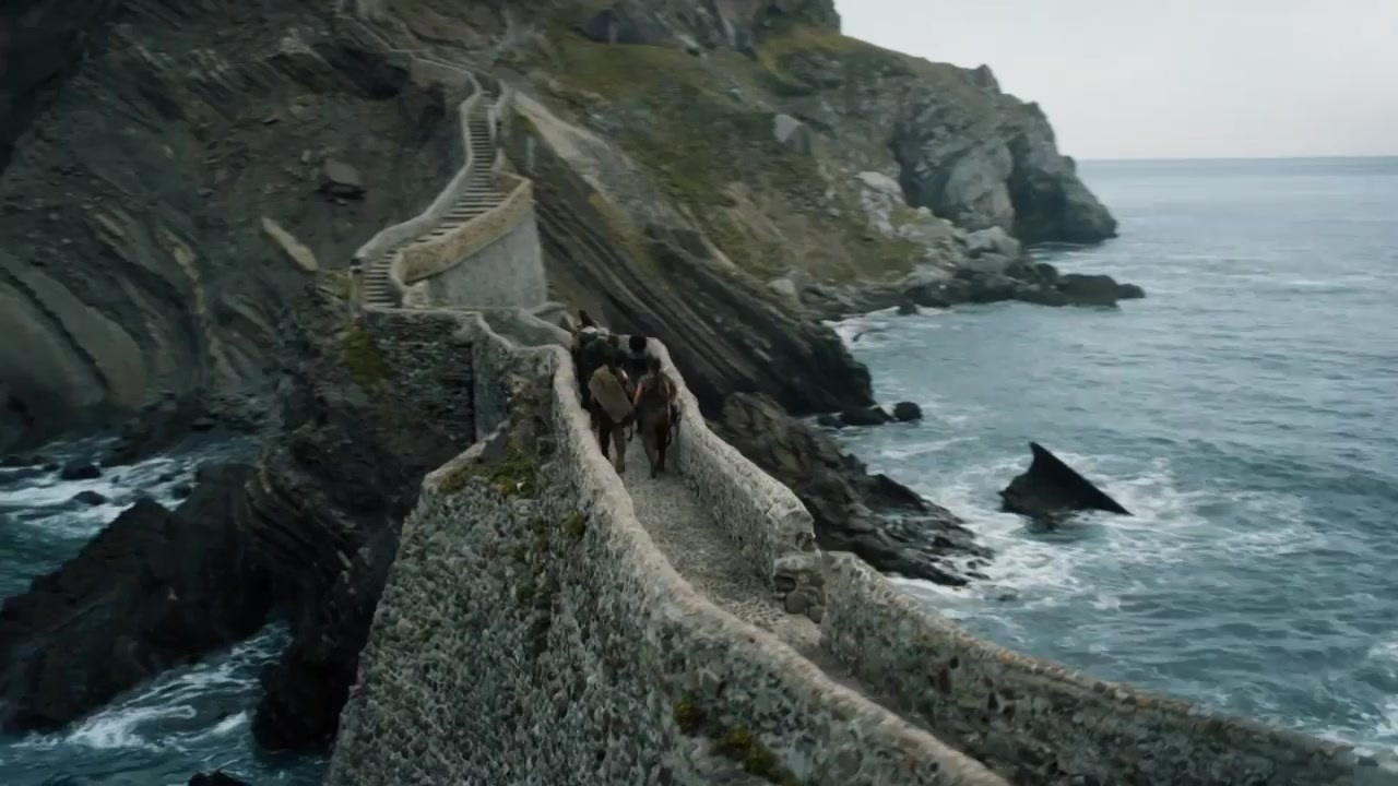Group on Dragonstone stairs