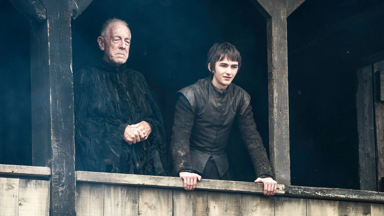 Three Eyed Raven and Bran in Home Game of Thrones