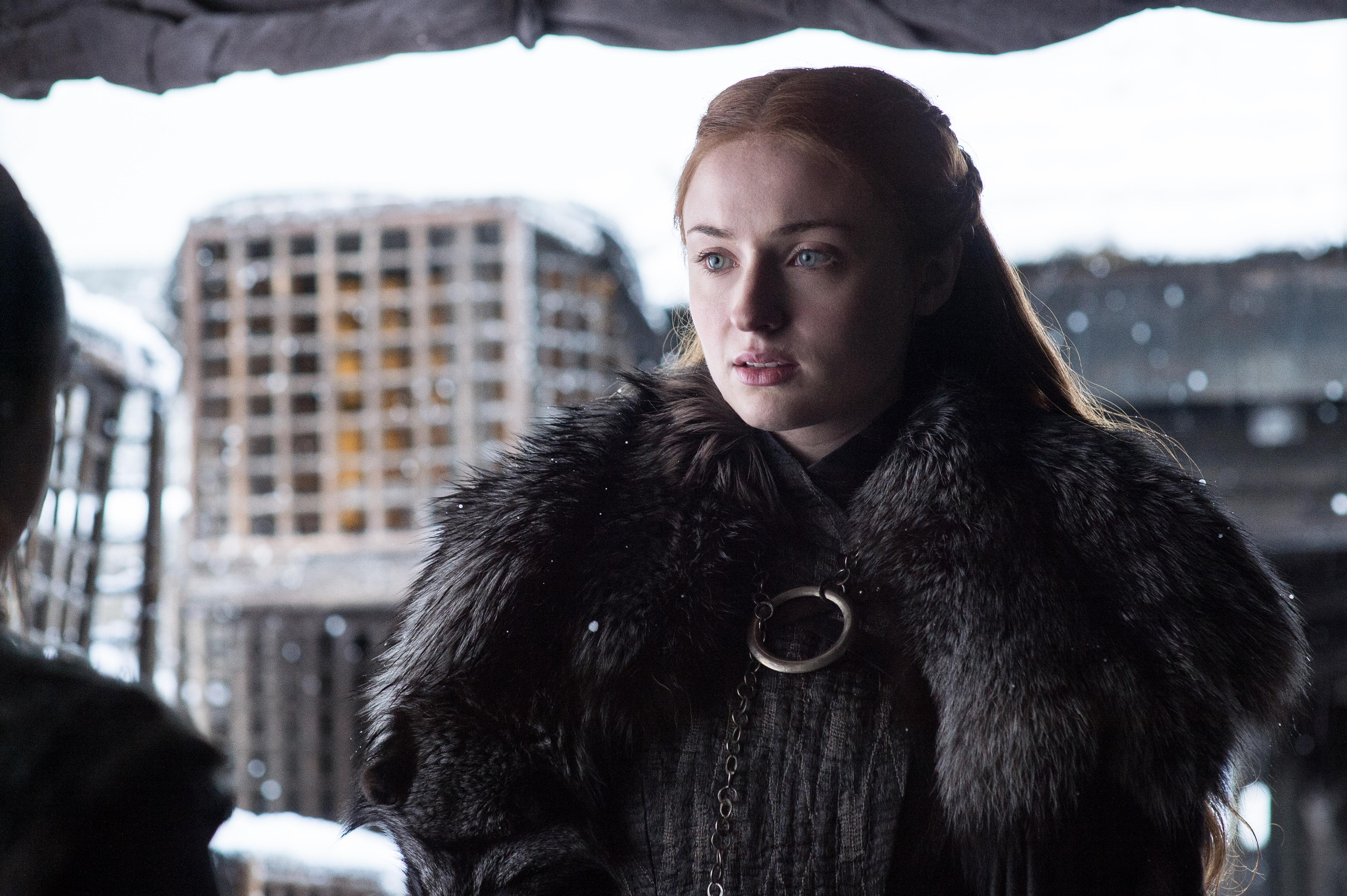 "Sansa at Winterfell, in tonight's episode ""Beyond the Wall"""