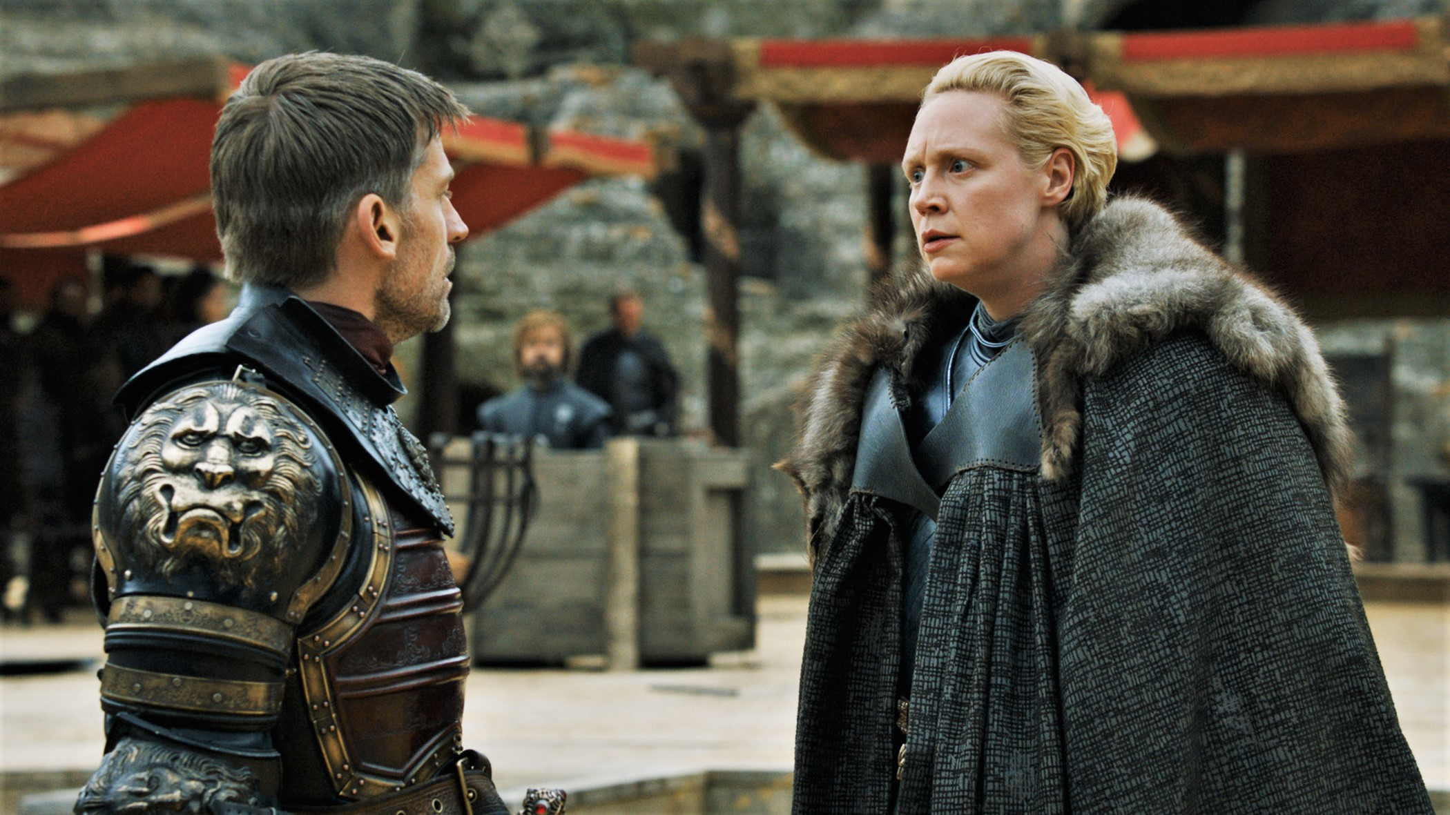 "Brienne and Jaime last saw each other in the season seven finale, ""The Dragon and the Wolf."""