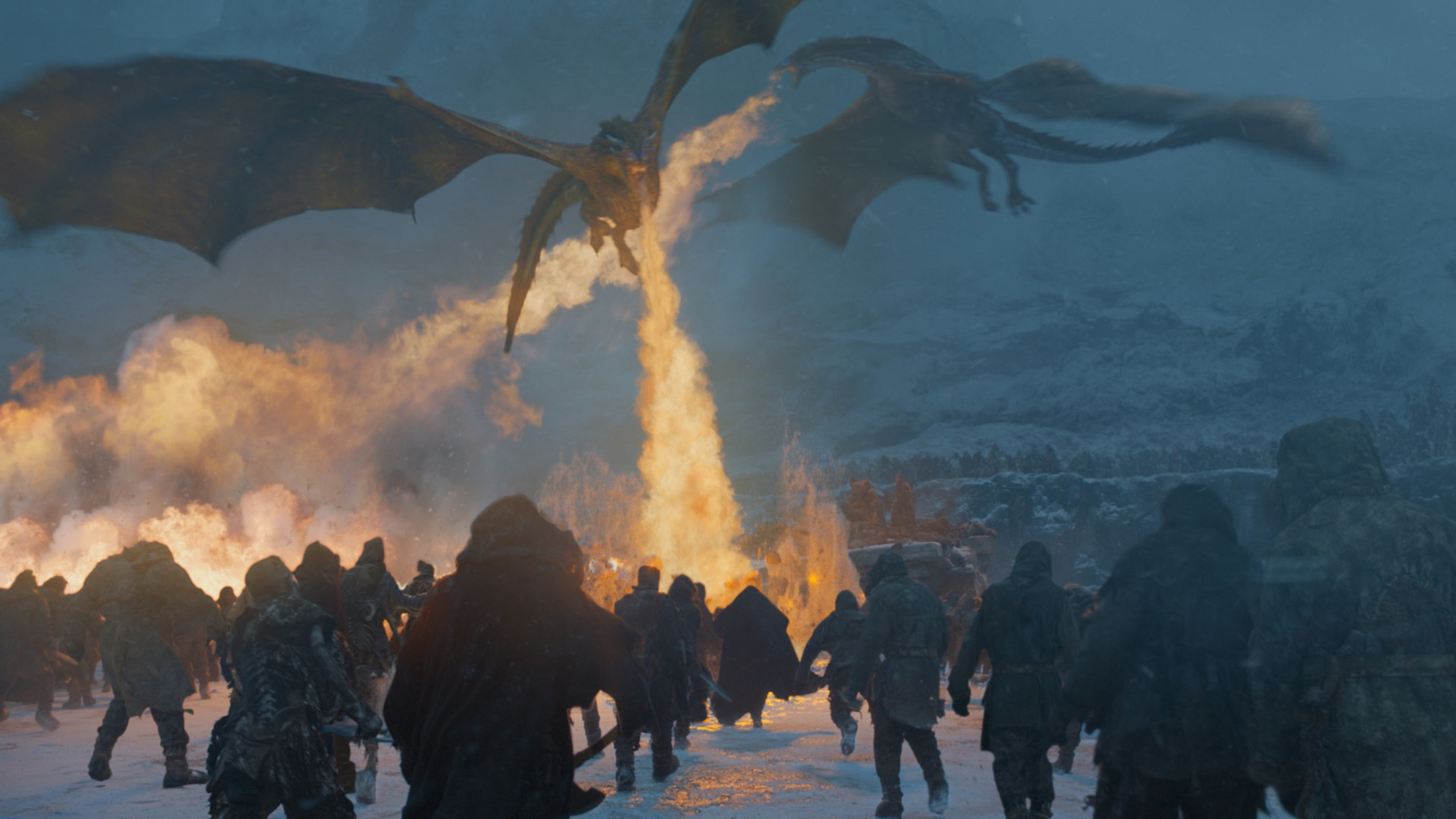 Dragons flame Game of Thrones
