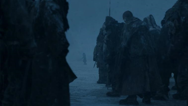 Jon and wights Beyond the Wall