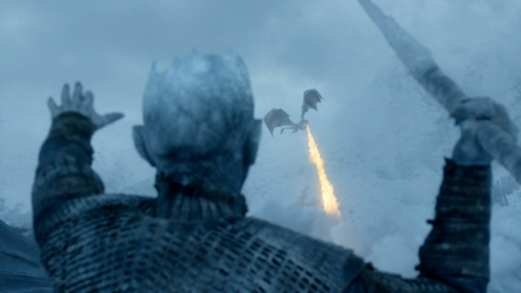 Night King spear Viserion Beyond the Wall