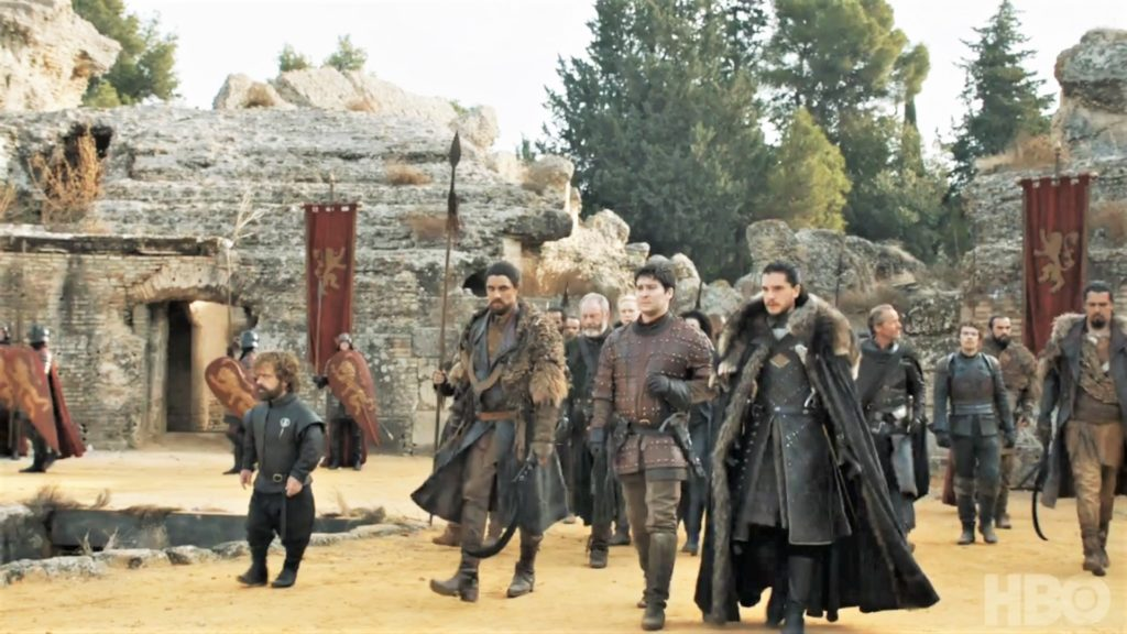 Tyrion Qhono Davos Brienne Podrick Missandei Jon Jorah Theon King's Landing Dragonpit Season 7 707