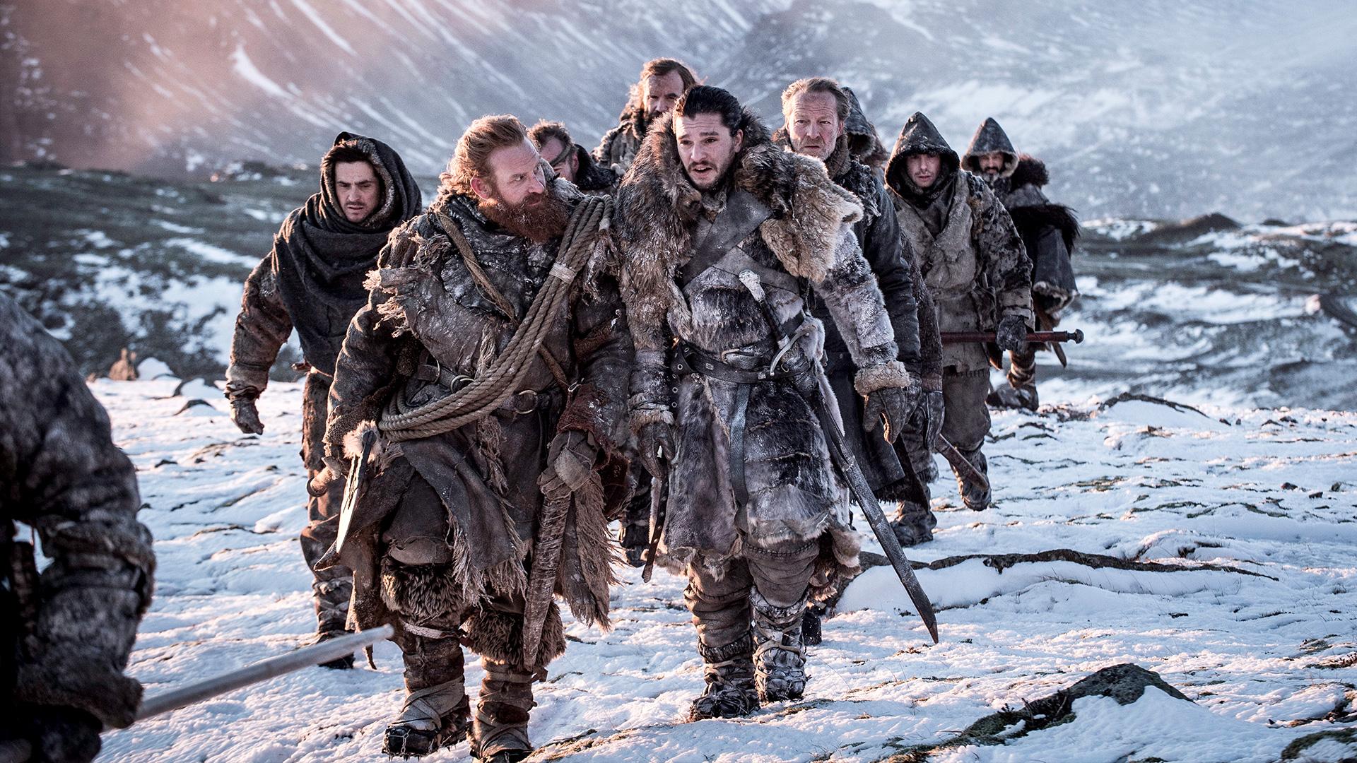 Tormund and Jon Beyond the Wall