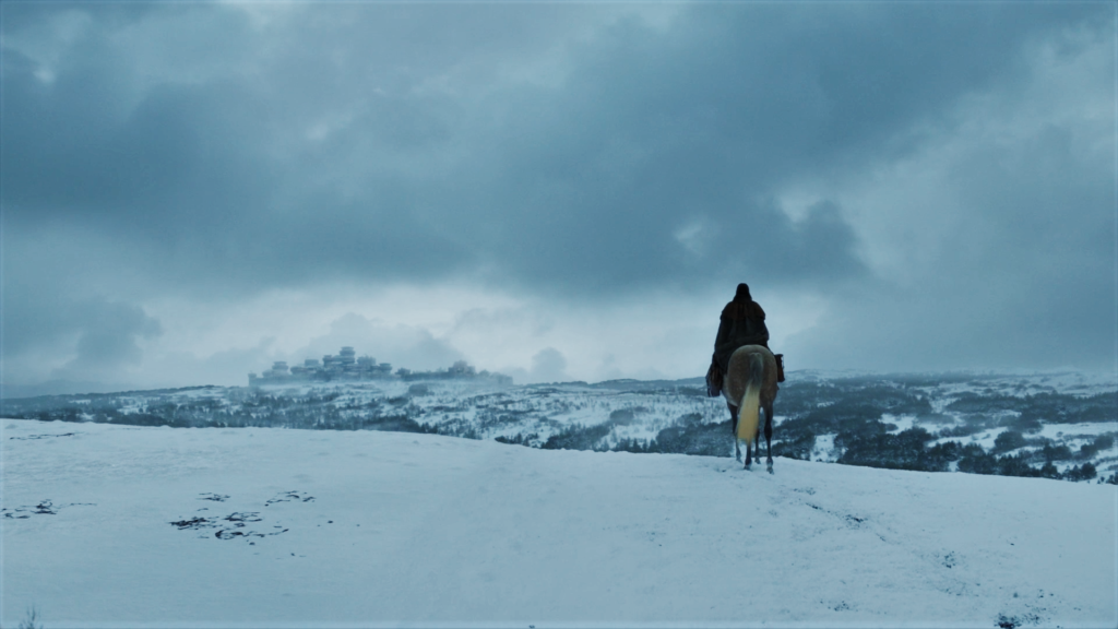 "Arya approaches Winterfell in Season 7 Episode 3, ""The Queen's Justice"""