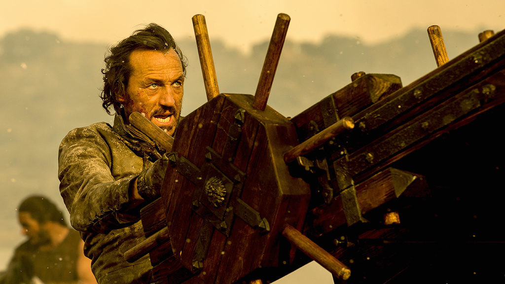 Bronn, in the moments before he made 10.2 million 'Game Of Thrones' fans scream in collective horror.