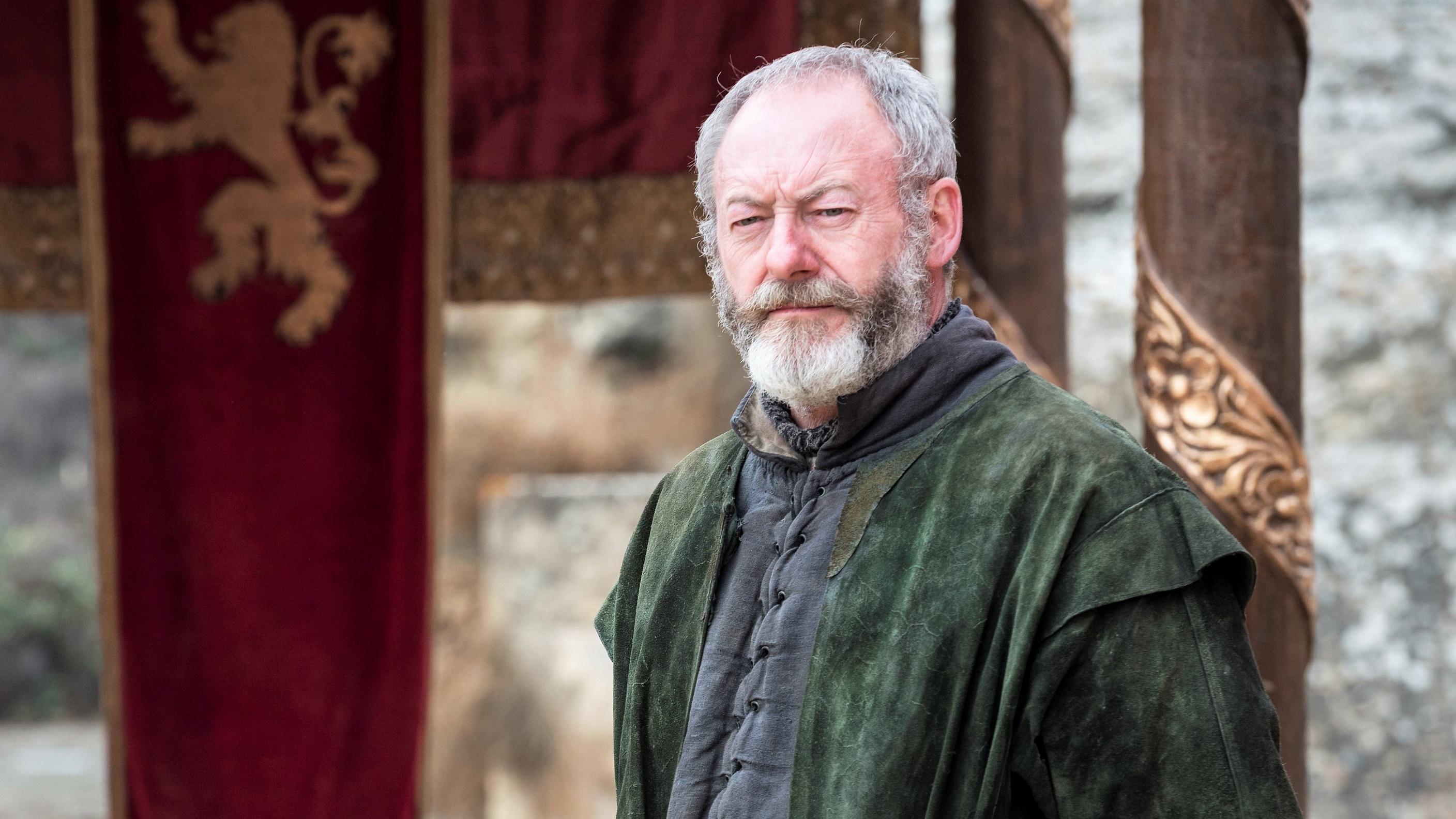 """Liam Cunningham as Davos Seaworth in """"The Dragon and the Wolf"""""""