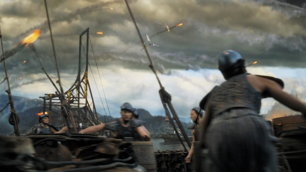 We have only seen trebuchets once before; mounted on the slavers' ships in the siege of Meereen