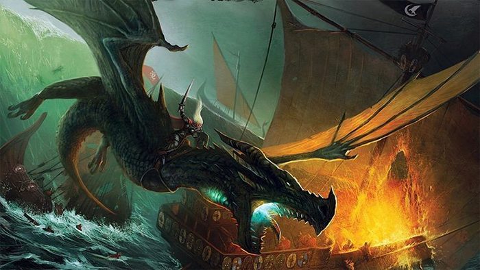 Visenya on her dragon Vhagar by John McCambridge.