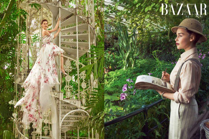 Emilia Clarke graces Harpers Bazaars cover, talks love