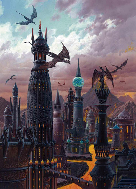 The Towers of Valyria by Ted Nasmith