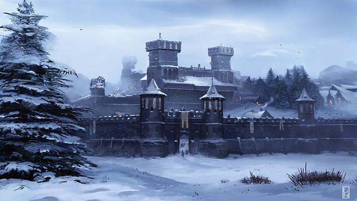 Winterfell by Lino Drieghe