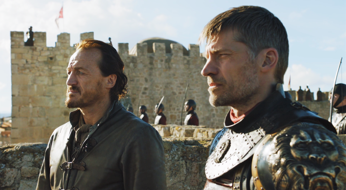"Jaime's facial hair situation last time we saw him in ""The Dragon and the Wolf"""