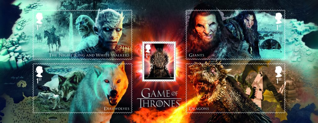 Royal Mail Stamps Creatures Iron Throne