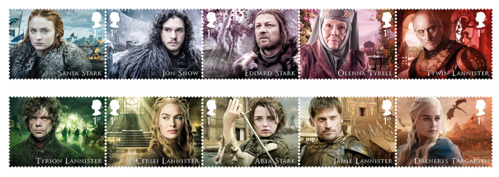 Royal Mail Stamps Characters
