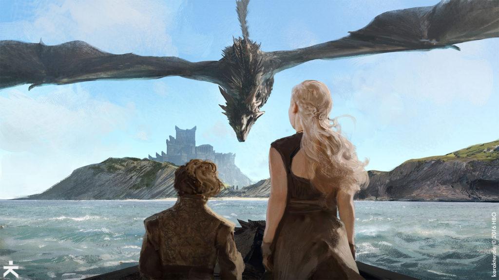 Karakter Concept Art Dragonstone Drogon Daenerys Tyrion 1