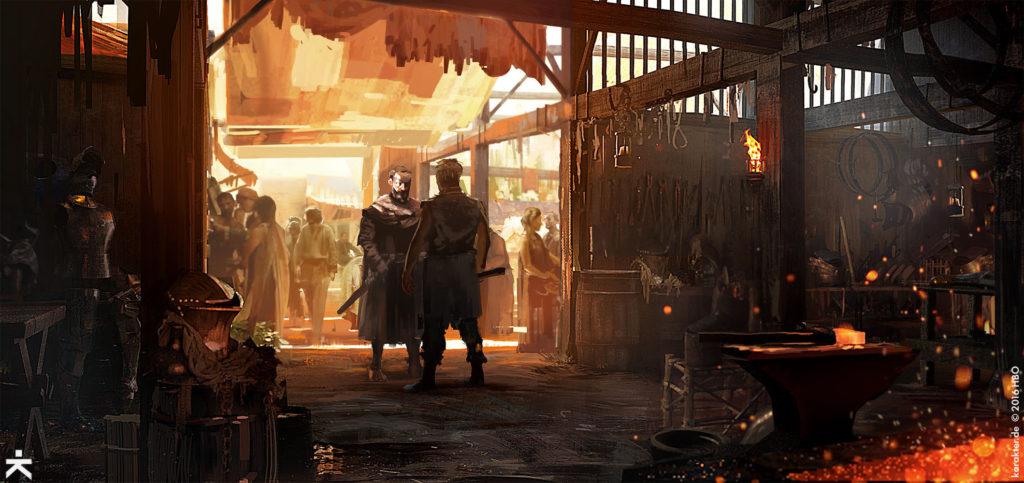 Karakter Concept Art Street of Steel Davos Gendry