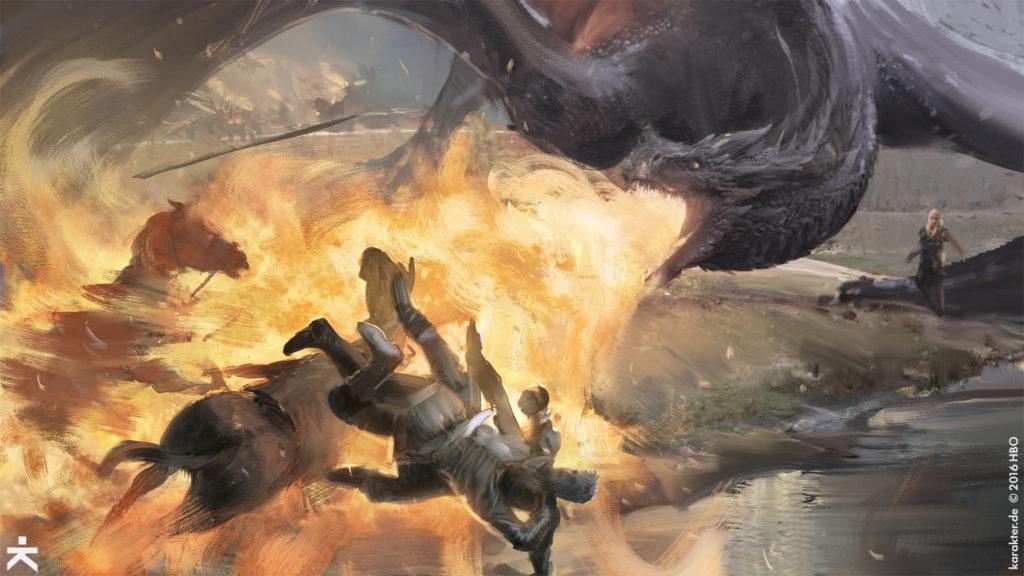 Karakter Concept Art Loot Train Battle Field of Fire Drogon Daenerys Jaime Bronn