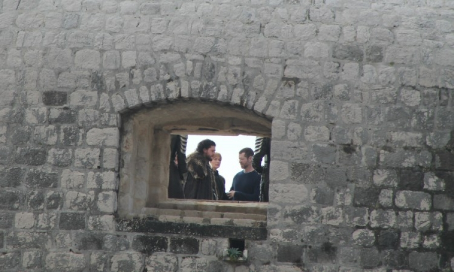 Harington and Headey listen to Weiss. Photo: Ivana Smilović / Dubrovnik Times