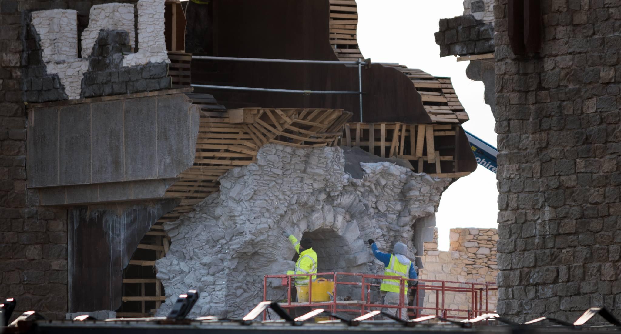 The breach through the gate. Photo: Stira Folding Attic Chairs