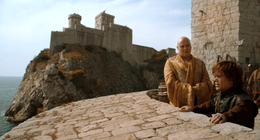 The first appearance of Dubrovnik's iconic Bokar and Lovrijenac Fortresses,  in season two