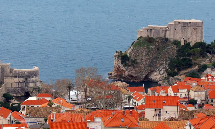 The crew HW, between the Bokar and Lovrijenac Fortresses, near the harbor. / Photo: The Dubrovnik Times