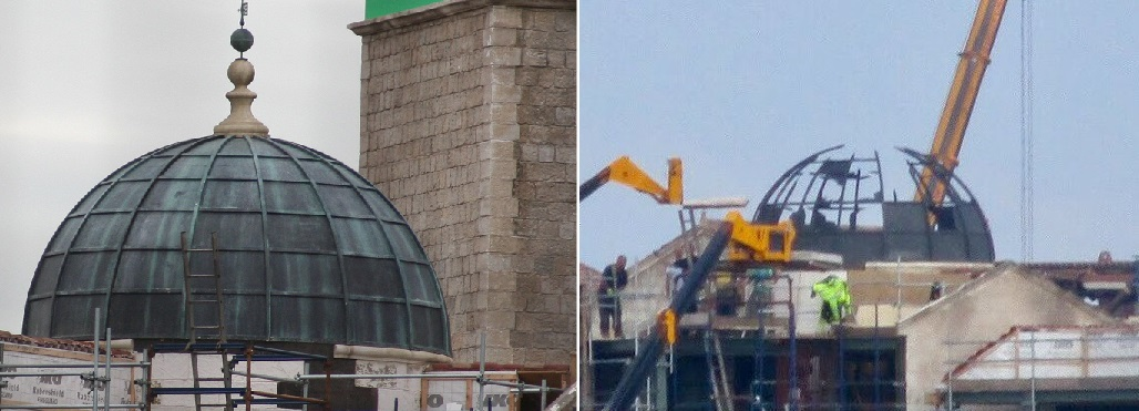 The King's Landing dome before & after it was destroyed.