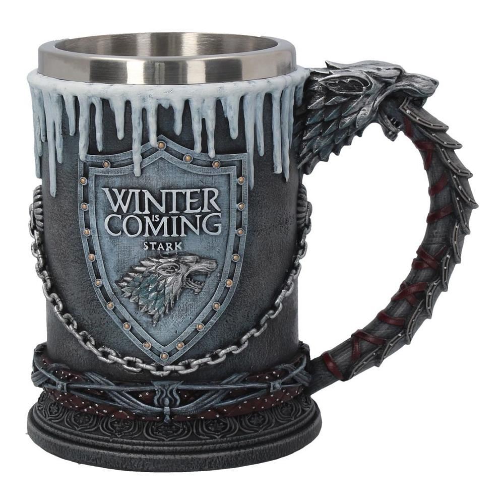 WInter is Coming House Stark tankard