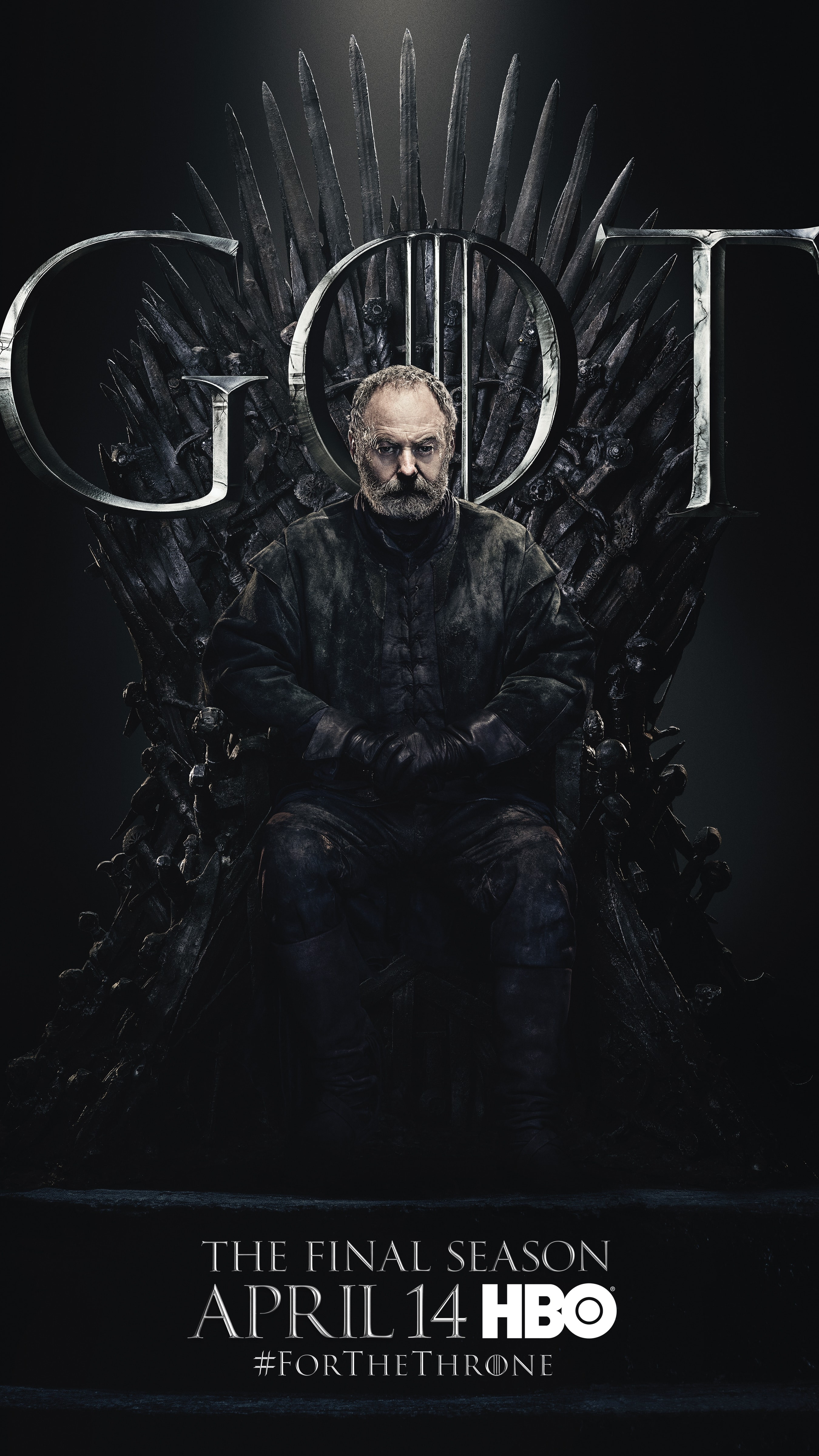 10. Davos Seaworth GOT Season 8 For The Throne Character Poster-min