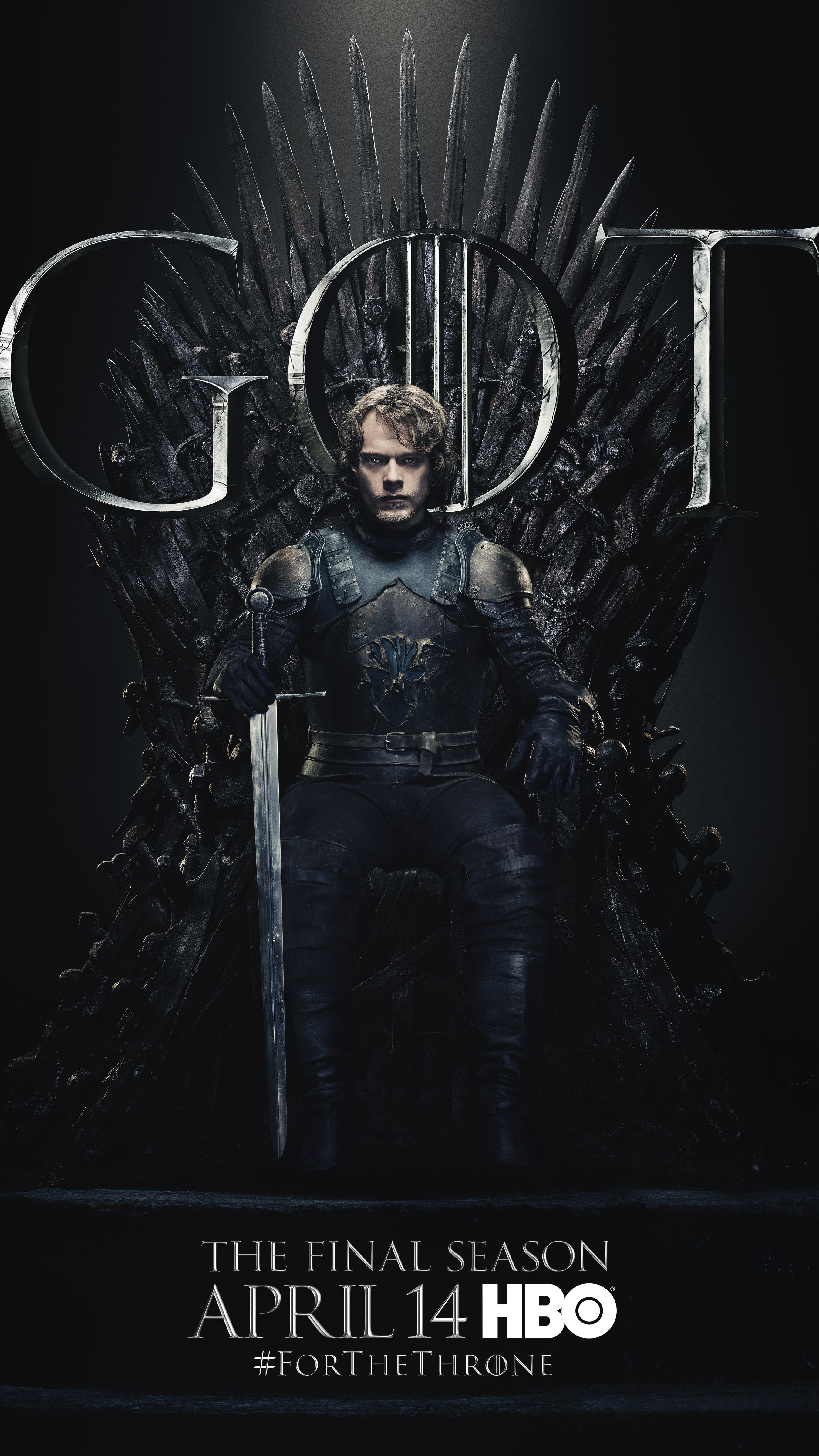 11. Theon Greyjoy GOT Season 8 For The Throne Character Poster-min