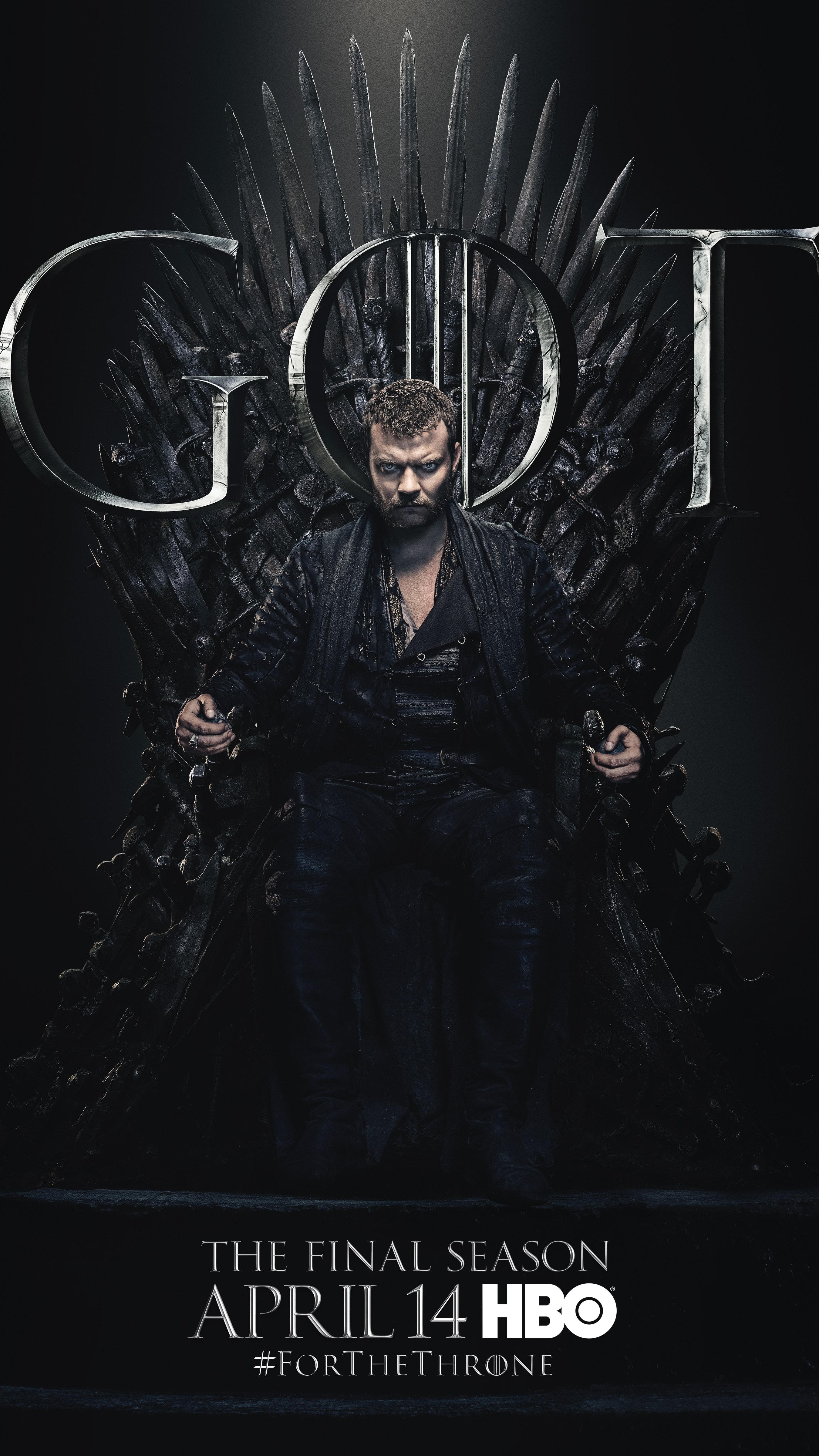 12. Euron Greyjoy GOT Season 8 For The Throne Character Poster-min