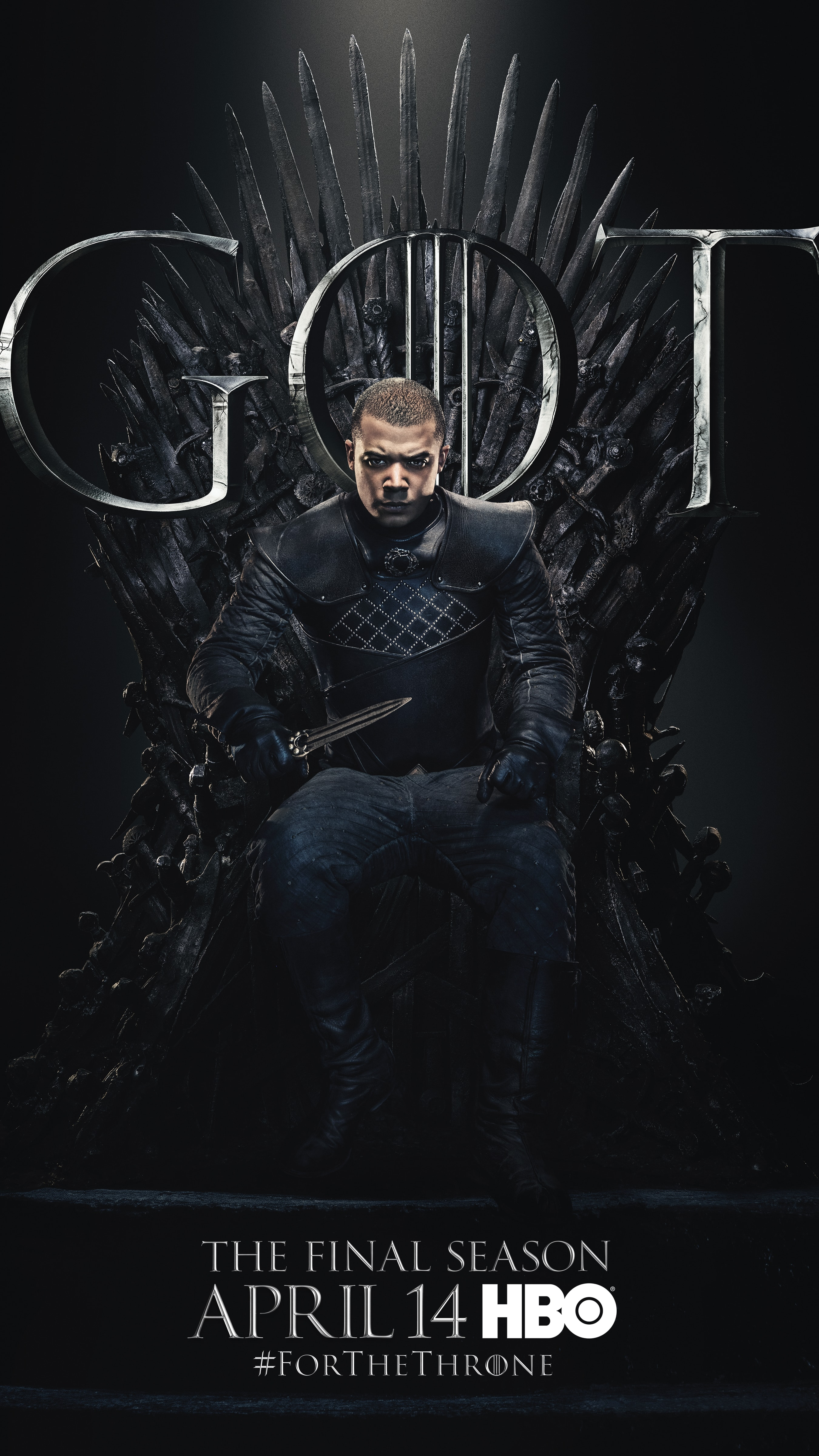 13. Grey Worm GOT Season 8 For The Throne Character Poster-min
