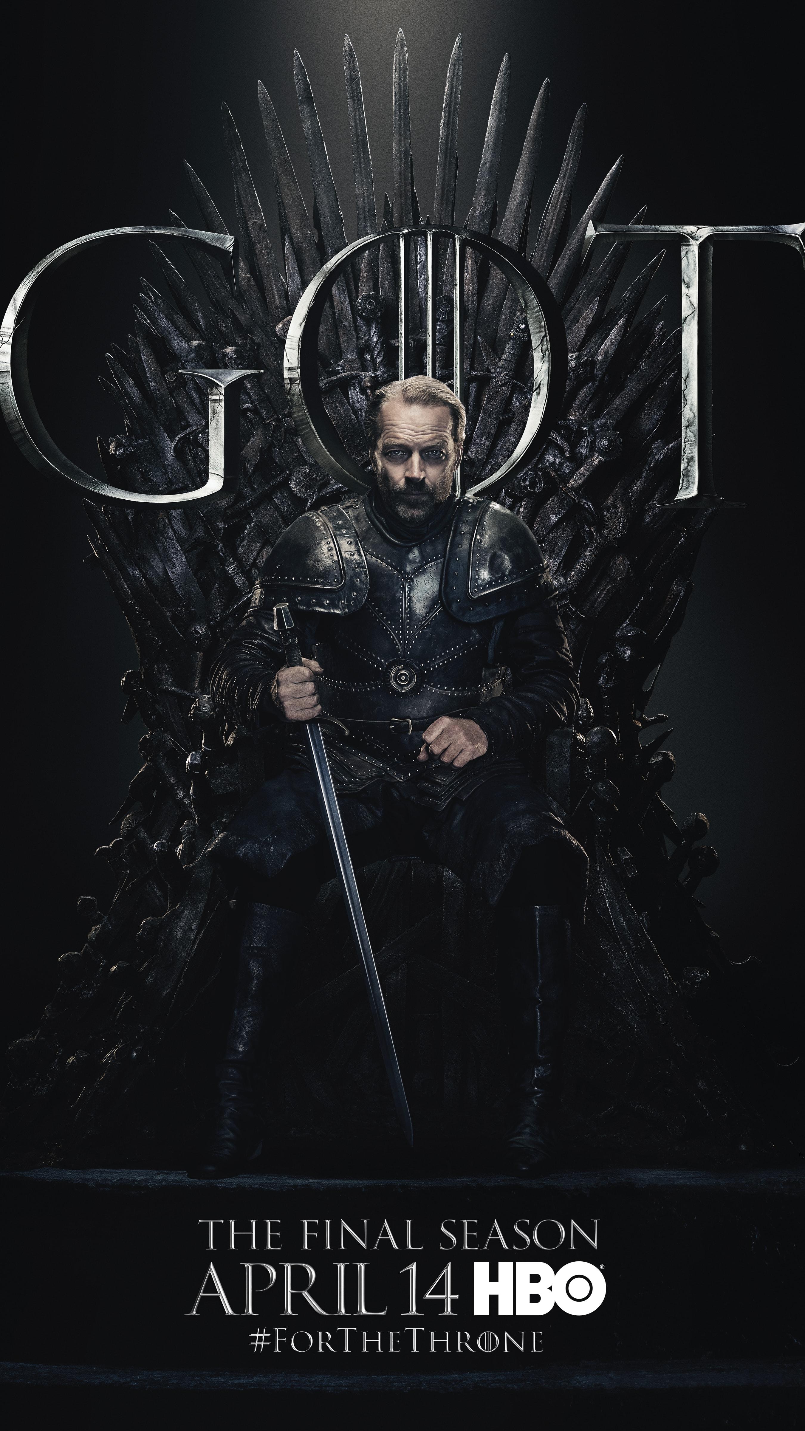 14. Jorah Mormont GOT Season 8 For The Throne Character Poster-min