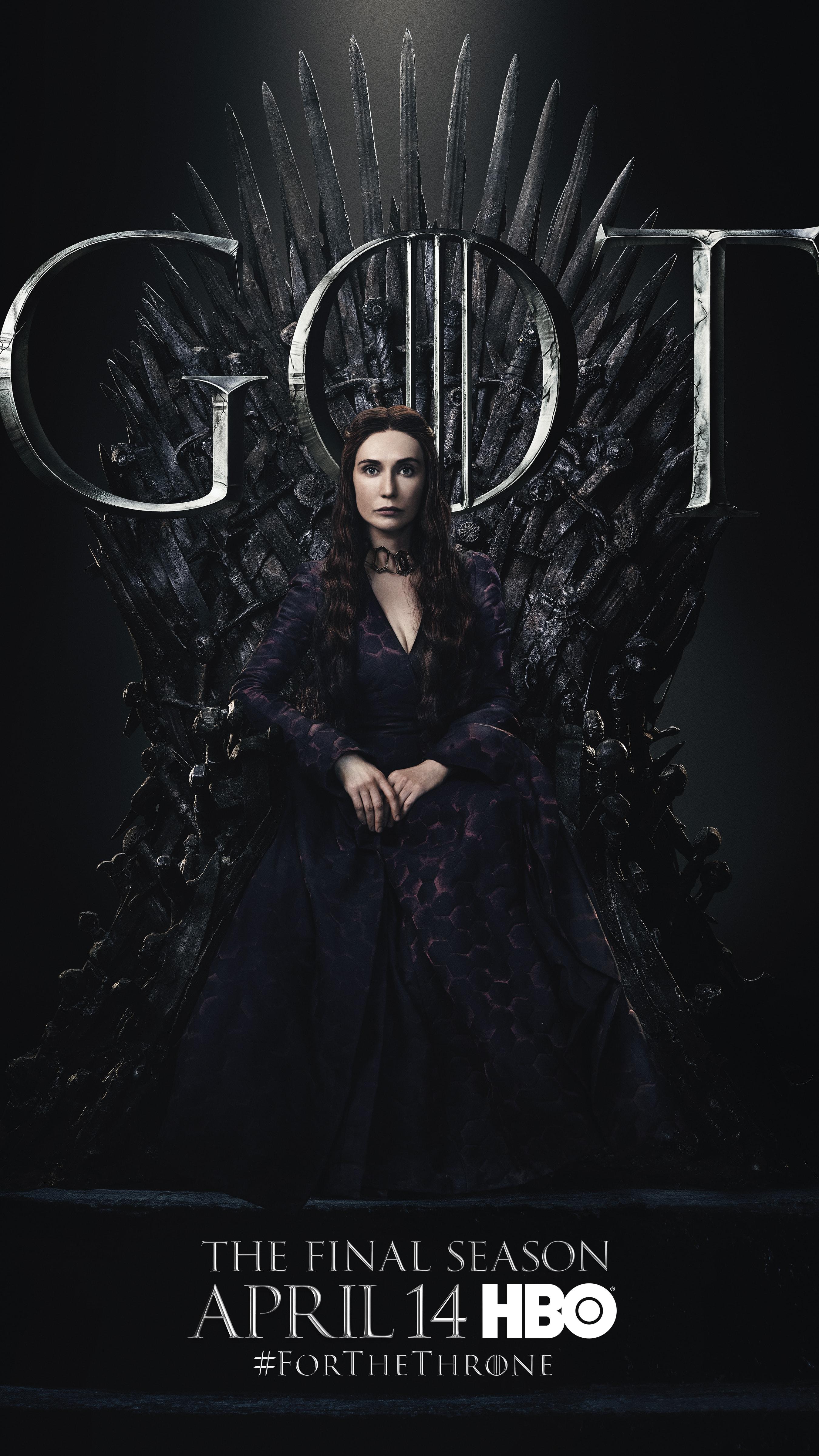 15. Melisandre GOT Season 8 For The Throne Character Poster-min