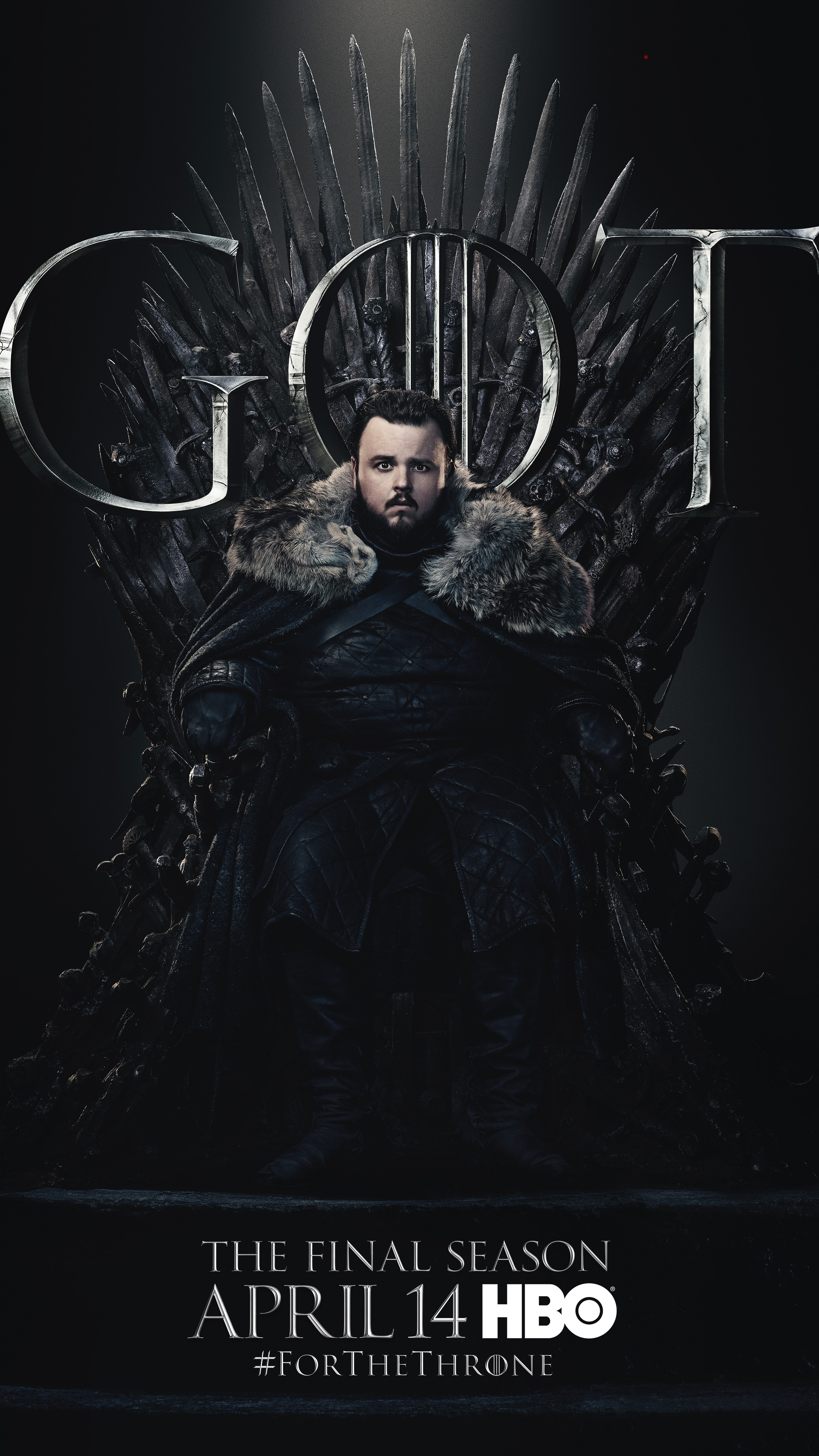 17. Sam Tarly GOT Season 8 For The Throne Character Poster-min