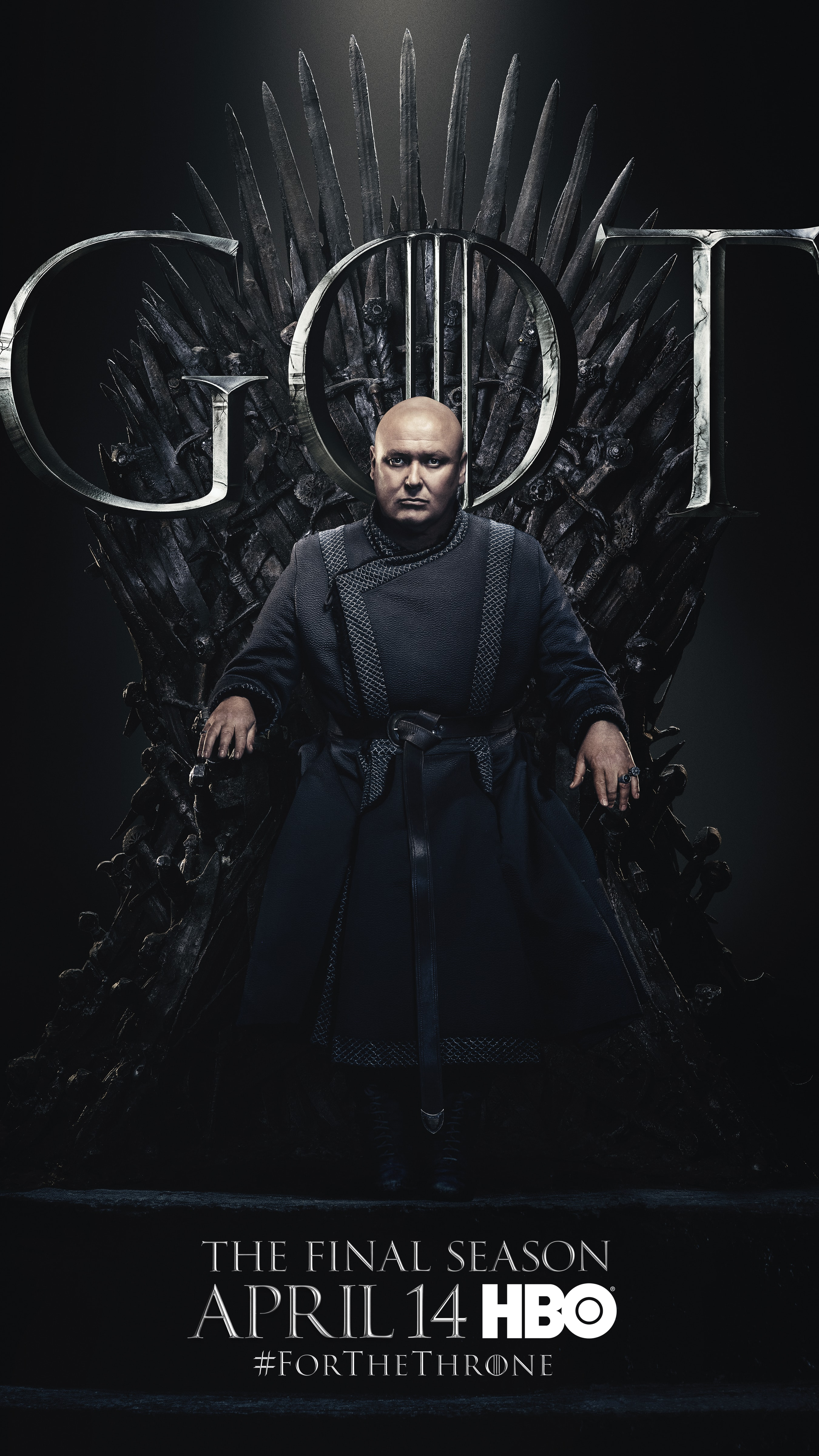 18. Varys GOT Season 8 For The Throne Character Poster-min