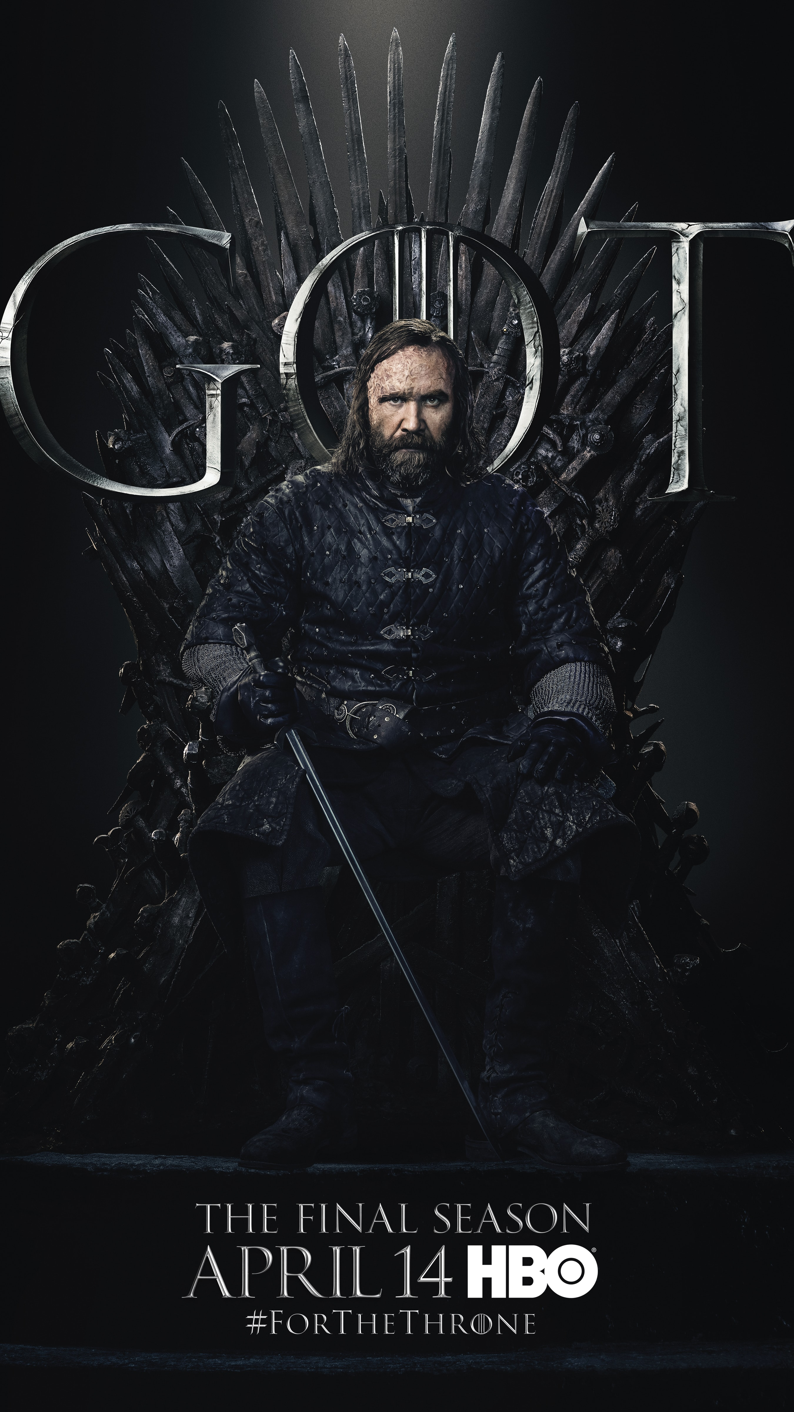 19. Sandor Clegane Hound GOT Season 8 For The Throne Character Poster-min