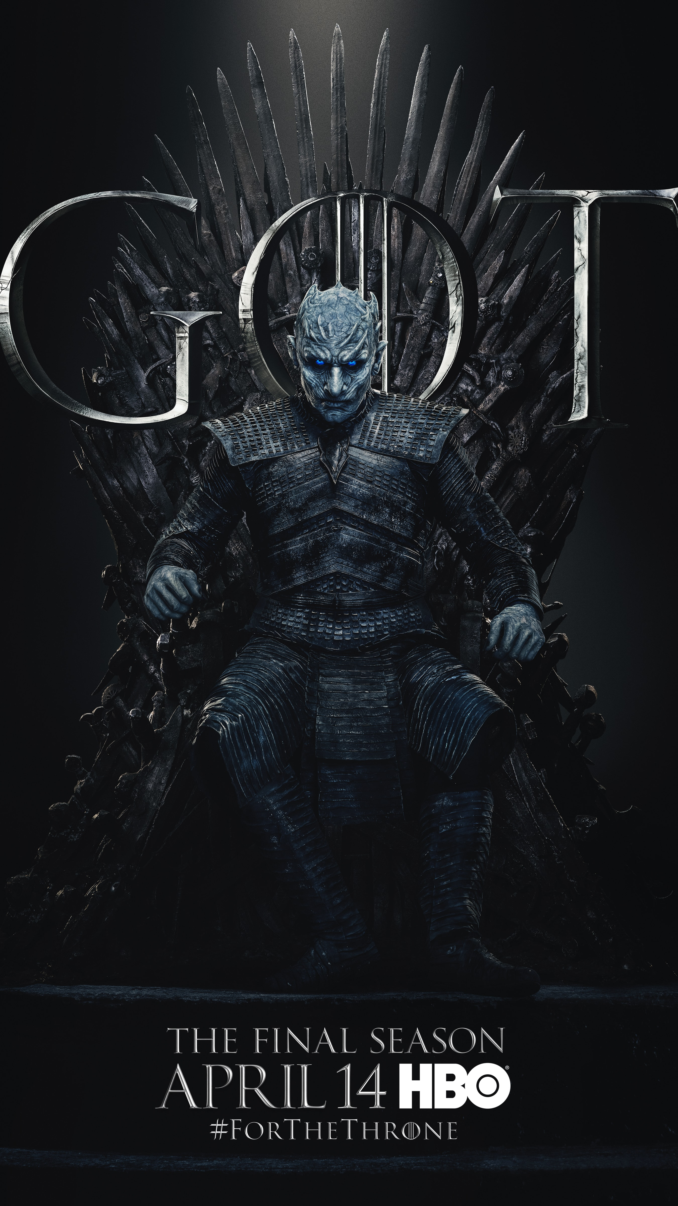 20. Night King GOT Season 8 For The Throne Character Poster-min
