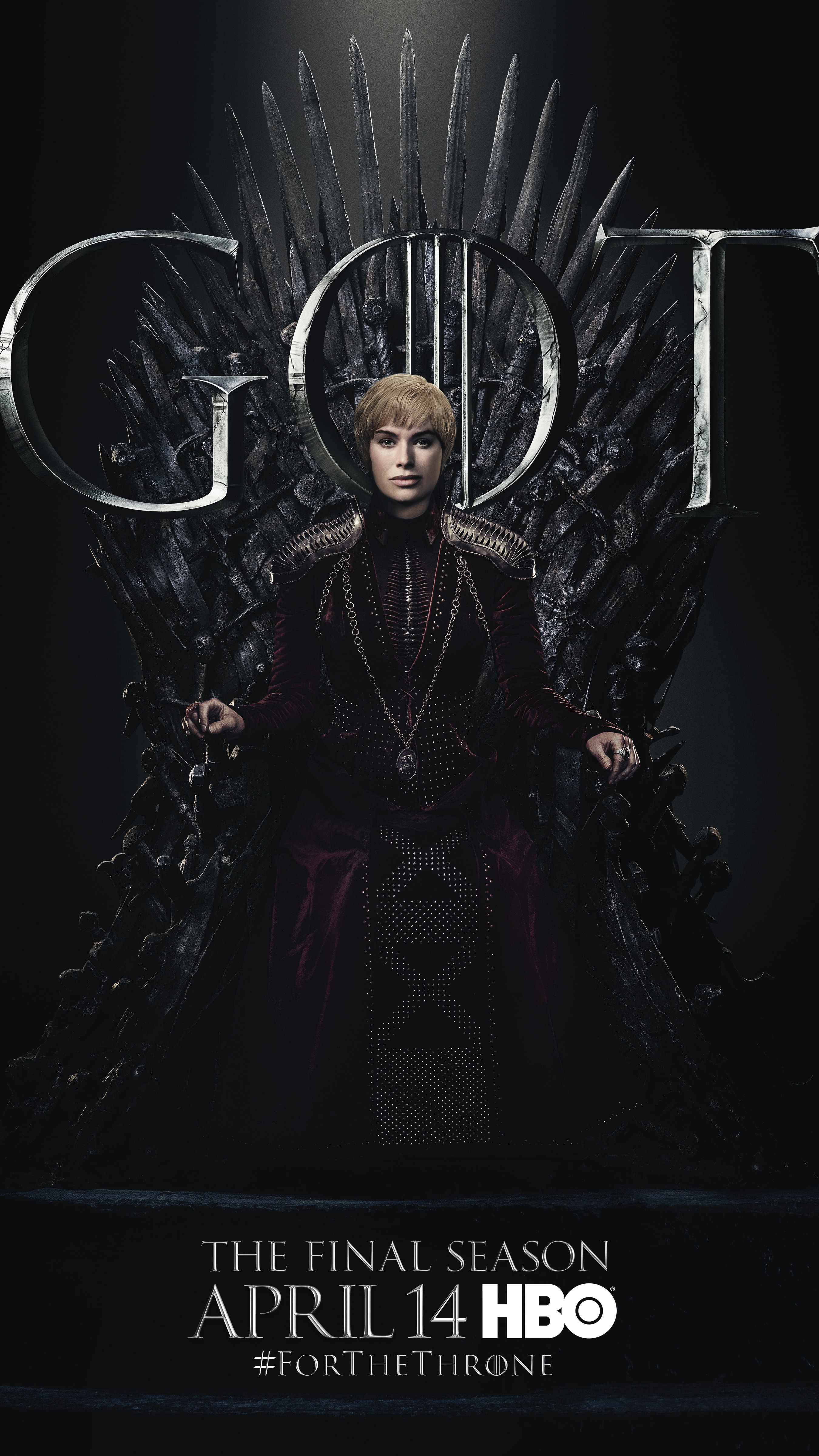 3. Cersei Lannister GOT Season 8 For The Throne Character Poster-min