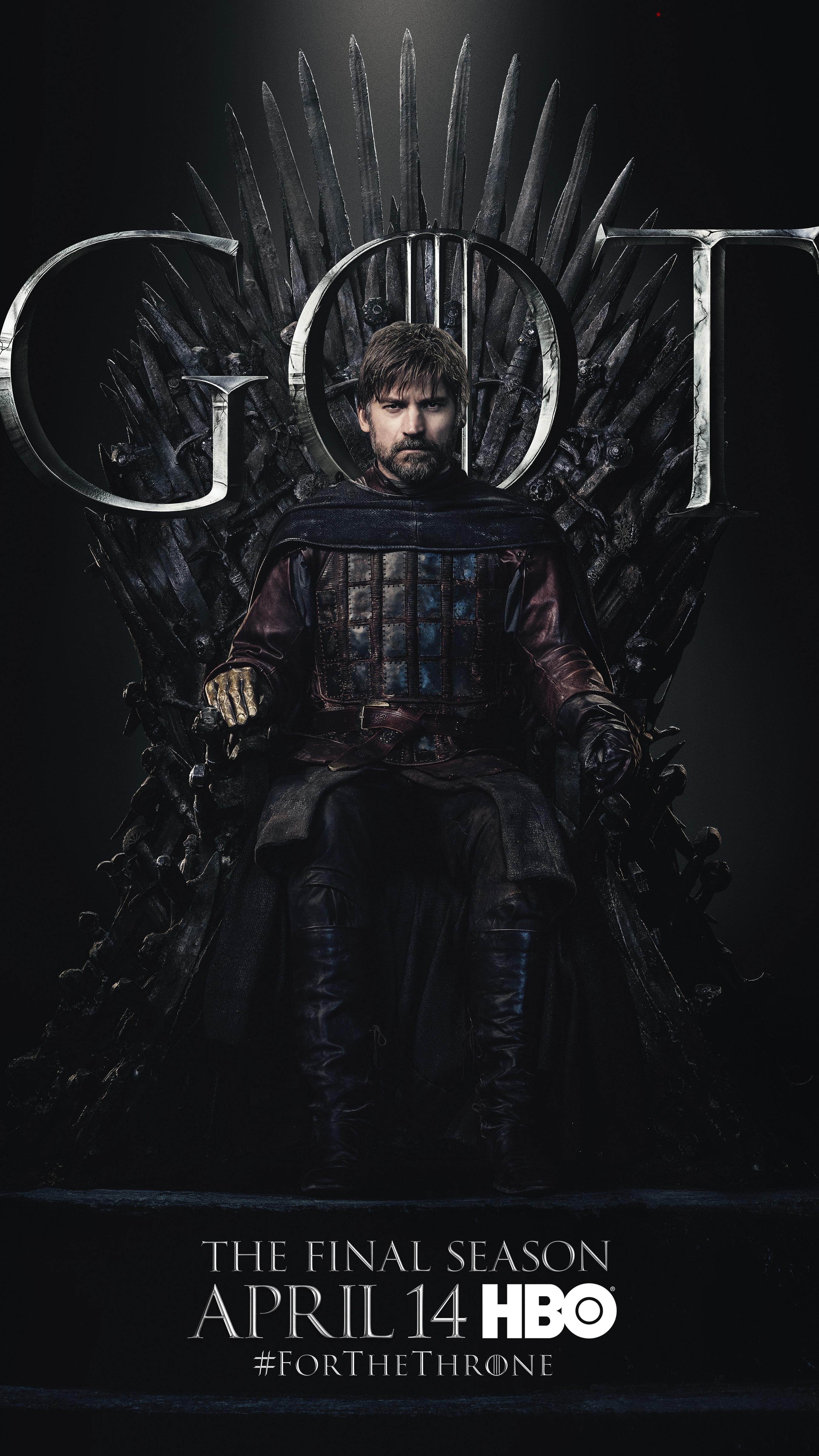 4. Jaime Lannister GOT Season 8 For The Throne Character Poster-min