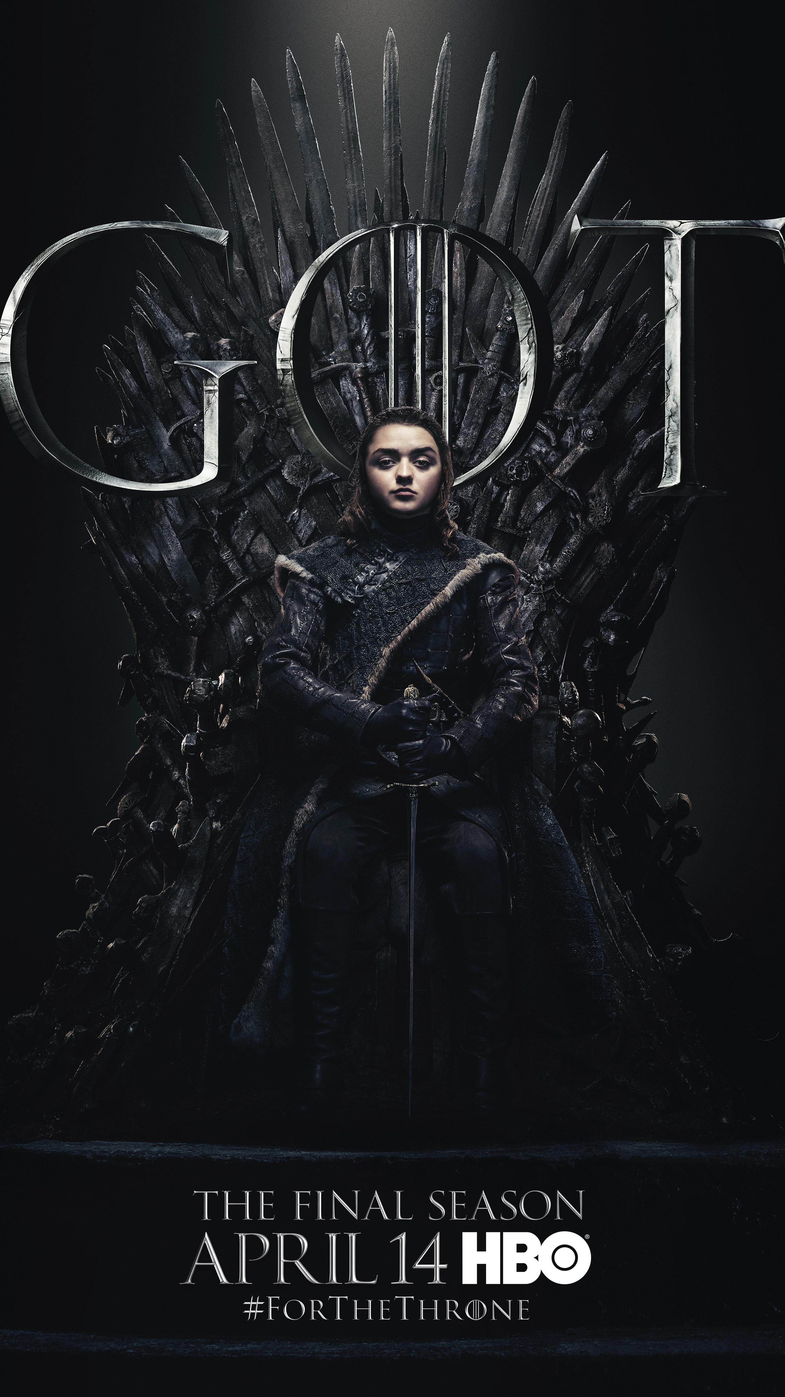 6. Arya Stark GOT Season 8 For The Throne Character Poster-min