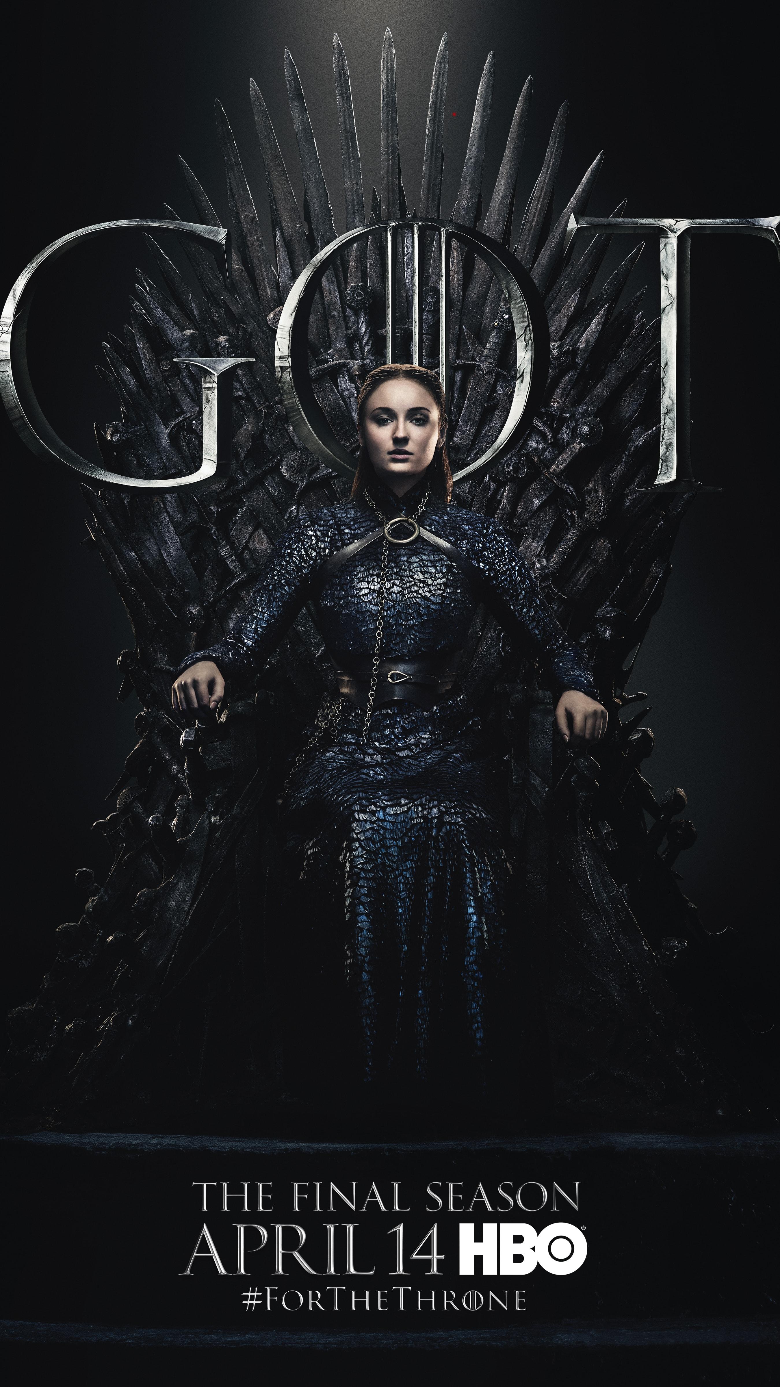 7. Sansa Stark GOT Season 8 For The Throne Character Poster-min