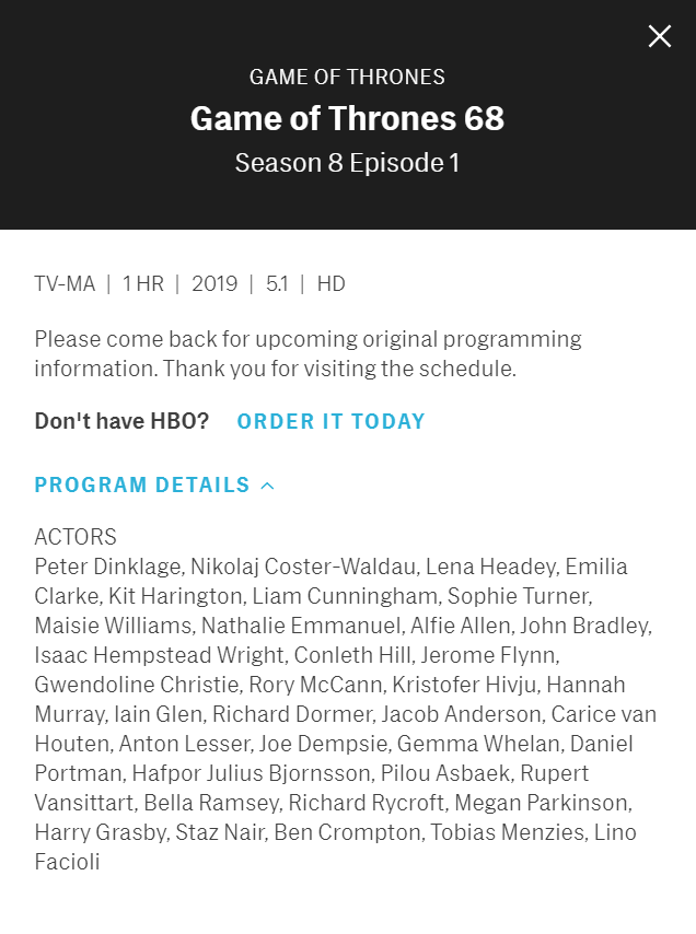 801 Cast List HBO